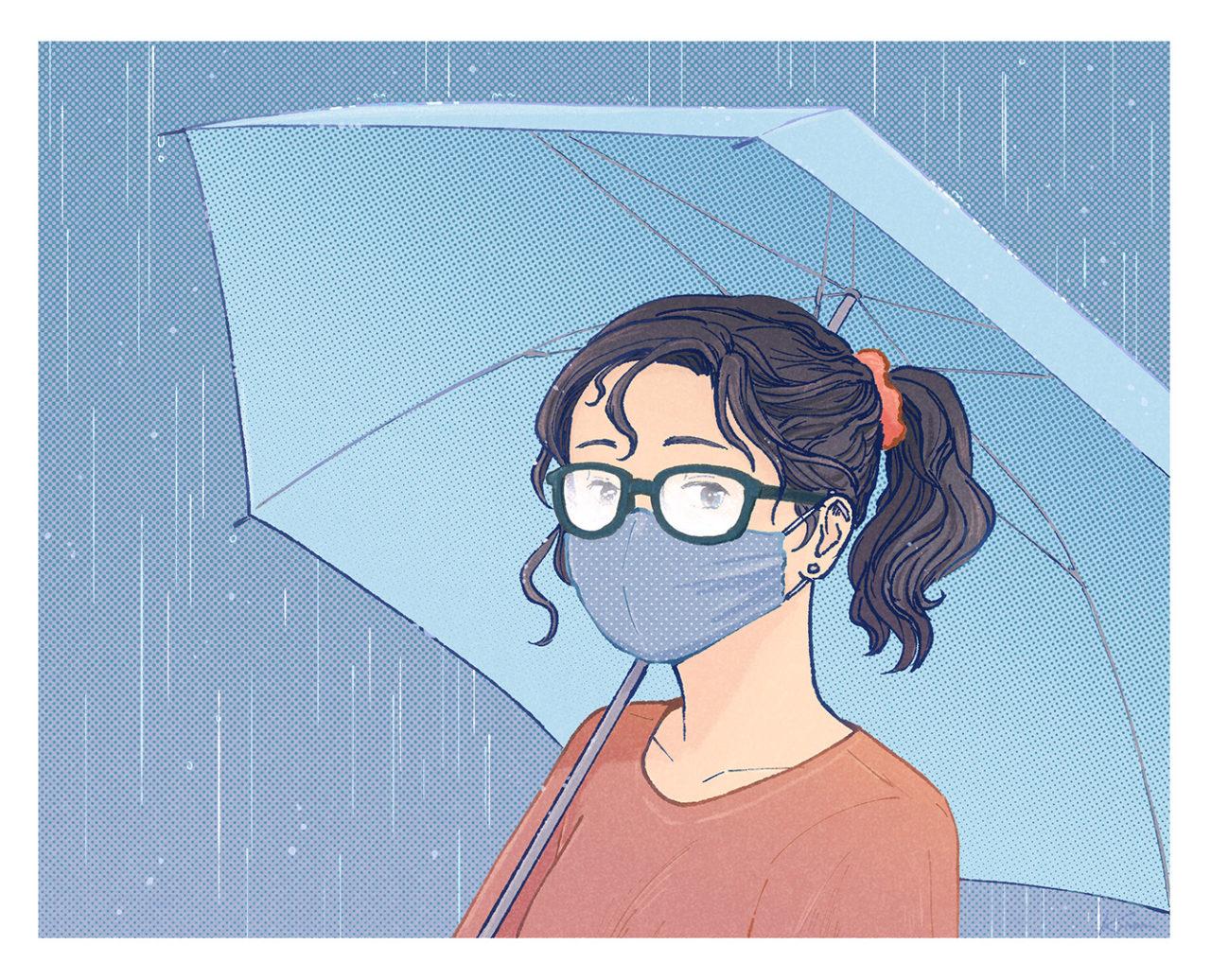 Foggy - art drawing by Kinomi