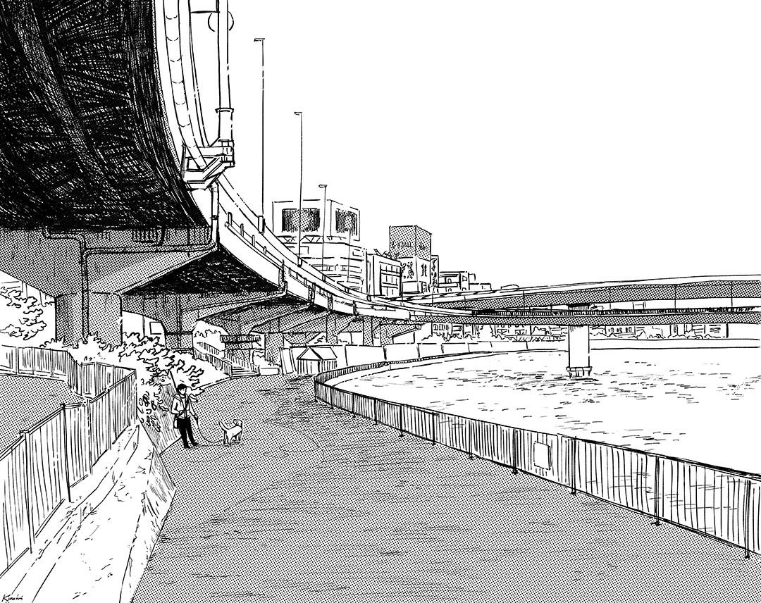 Underpass - art drawing by Kinomi